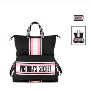 Victoria's Secret cute fold and pack backpack NWT